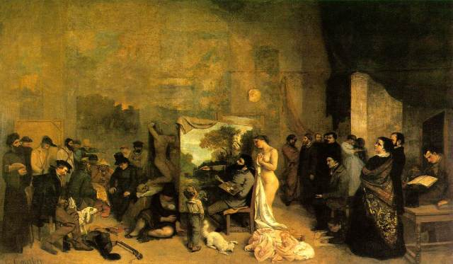Courbet in his studio